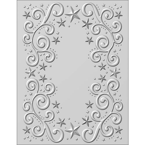 Creative Expressions Twinkle Swirls 3D Embossing Folder