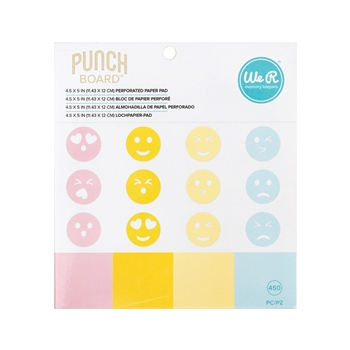 We R Memory Keepers PERFORATED Paper Pad for Emoji Punch Board 660321