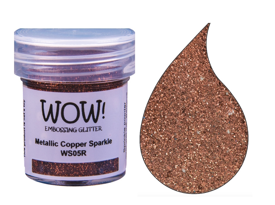 WOW! Glitter Embossing Powder Metallic Copper Sparkle