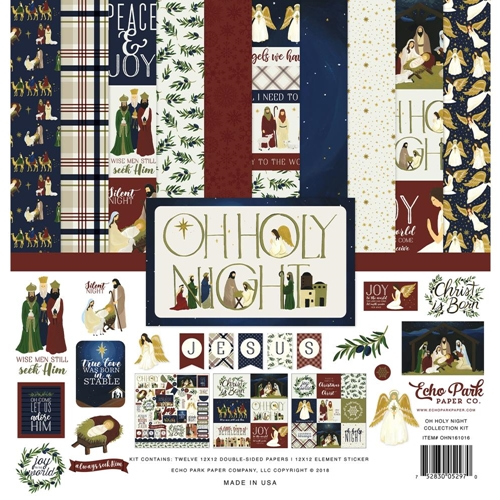Echo Park OH HOLY NIGHT 12 x 12 Collection Kit ohn161016 Preview Image