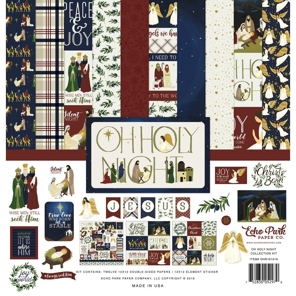 Echo Park OH HOLY NIGHT 12 x 12 Collection Kit ohn161016 zoom image