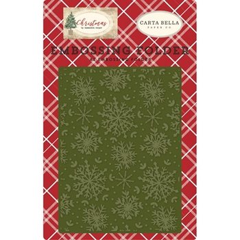 Carta Bella JOLLY SNOWFLAKES Embossing Folder cbch89031