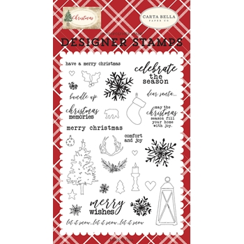 Carta Bella CHRISTMAS MEMORIES Clear Stamp Set cbch89046