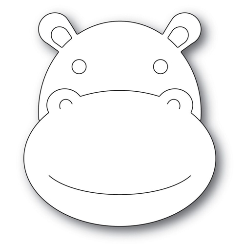 Simon Says Stamp BIG PICTURE BOOK HIPPO Wafer Dies s567 Preview Image