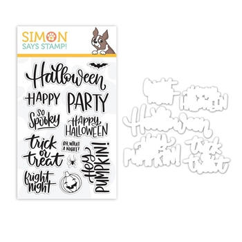 Simon Says Stamps And Dies HANDLETTERED HALLOWEEN set338hh