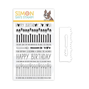 Simon Says Stamps And Dies BIRTHDAY BORDERS set334bb Stamptember
