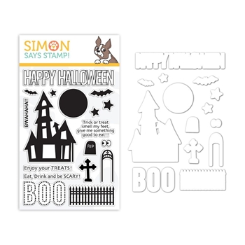 Simon Says Stamps And Dies BWAHAHA set336bw Stamptember
