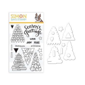 Simon Says Stamps And Dies FESTIVE TREES set339ft Stamptember