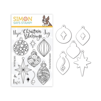 Simon Says Stamps And Dies ORNATE ORNAMENTS set340ro Stamptember