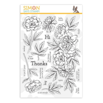 Simon Says Clear Stamps BEAUTIFUL FLOWERS 2 sss101884 Stamptember