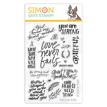 Simon Says Clear Stamps SPIRITUAL SENTIMENTS sss101908 Stamptember