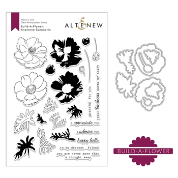 Altenew BUILD A FLOWER CORONARIA Clear Stamp and Die Set ALT2648