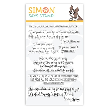 Simon Says Clear Stamps YOUR GREATEST DREAMS sss101913 Stamptember