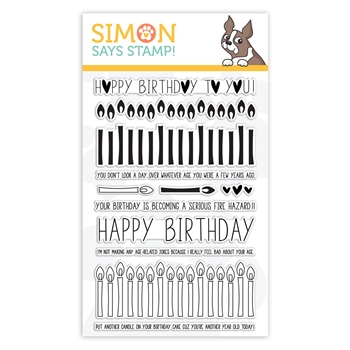 Simon Says Clear Stamps BIRTHDAY BORDERS sss101852 Stamptember