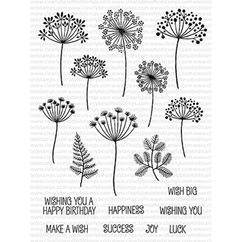 Clearly Besotted WISHFUL THINKING Clear Stamps