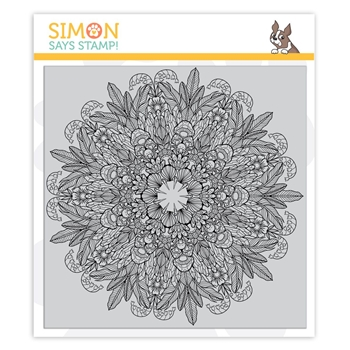 Simon Says Cling Rubber Stamp NATURE MANDALA sss101916 Stamptember
