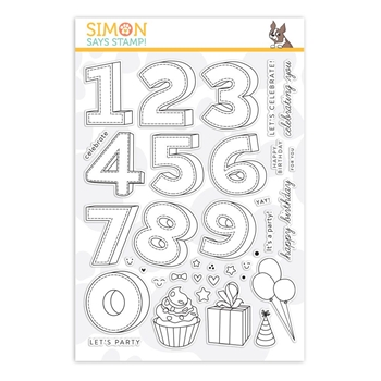 Simon Says Clear Stamps BIRTHDAY NUMBERS sss101886 Stamptember