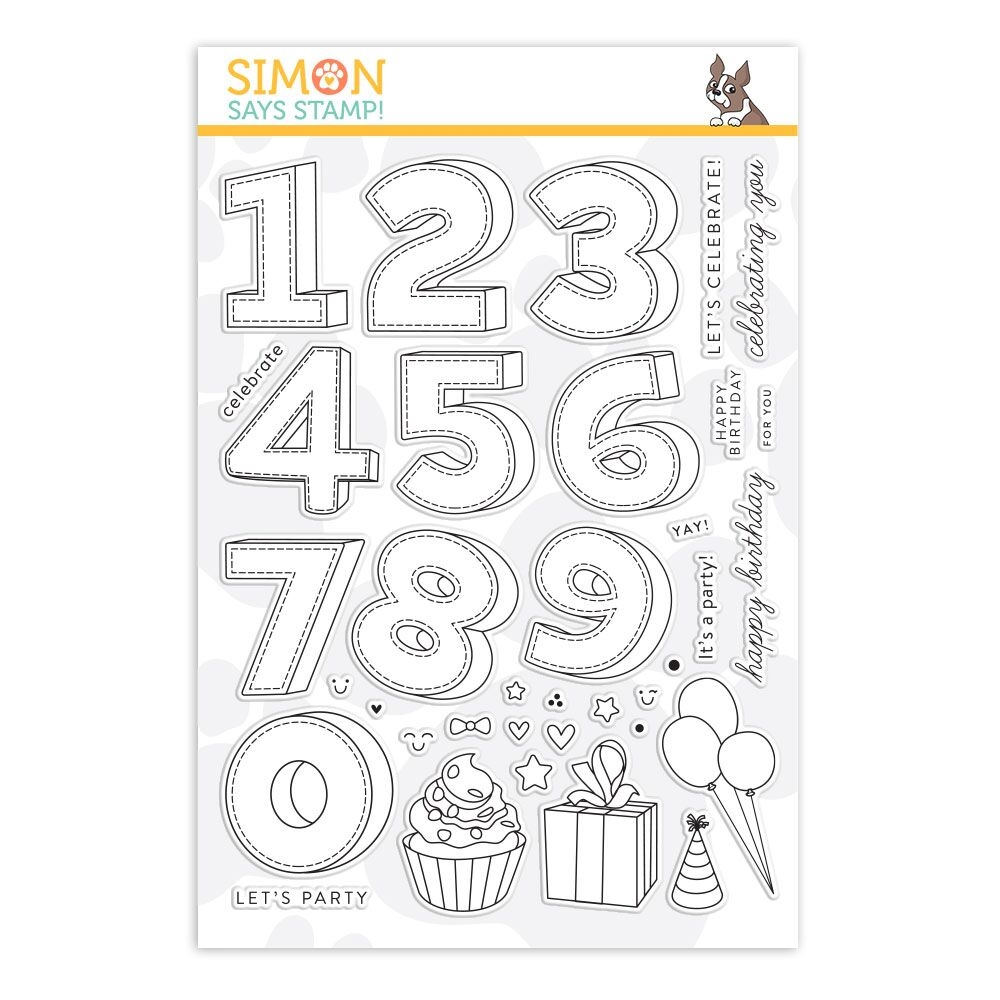 Simon Says Clear Stamps BIRTHDAY NUMBERS sss101886 Stamptember zoom image