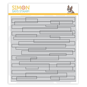Simon Says Cling Rubber Stamp PLANK BACKGROUND sss101882 Stamptember