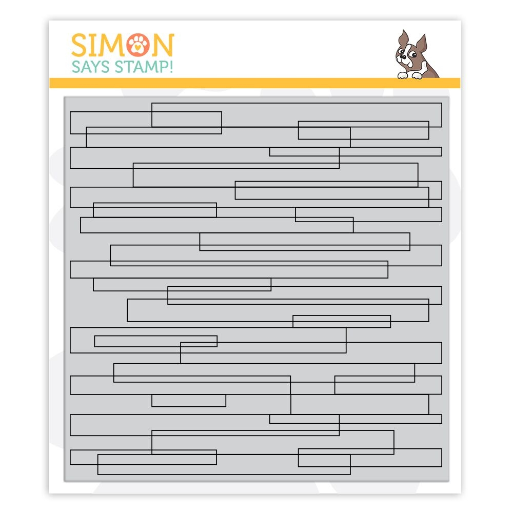 Simon Says Cling Rubber Stamp PLANK BACKGROUND sss101882 Stamptember zoom image