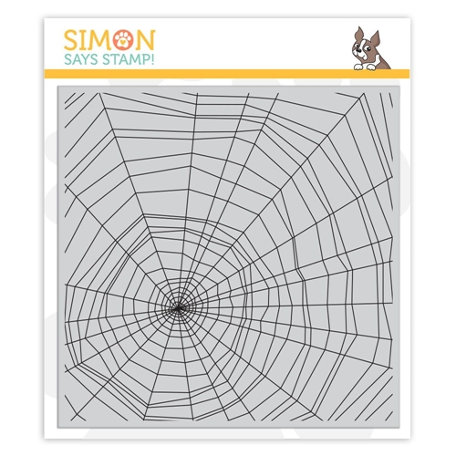 Simon Says Cling Rubber Stamp SPIDER WEB sss101869 Stamptember Preview Image