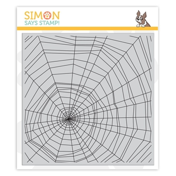 Simon Says Cling Rubber Stamp SPIDER WEB sss101869 Stamptember