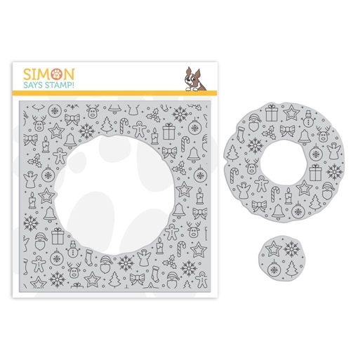 Simon's Exclusive Center Cut Holiday Icons Cling Stamp