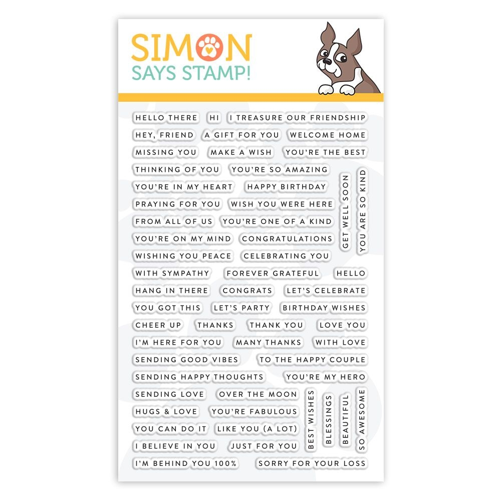 Simon Says Clear Stamps TINY WORDS sss101883 zoom image