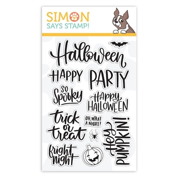 Simon Says Clear Stamps HANDLETTERED HALLOWEEN sss101873 Stamptember
