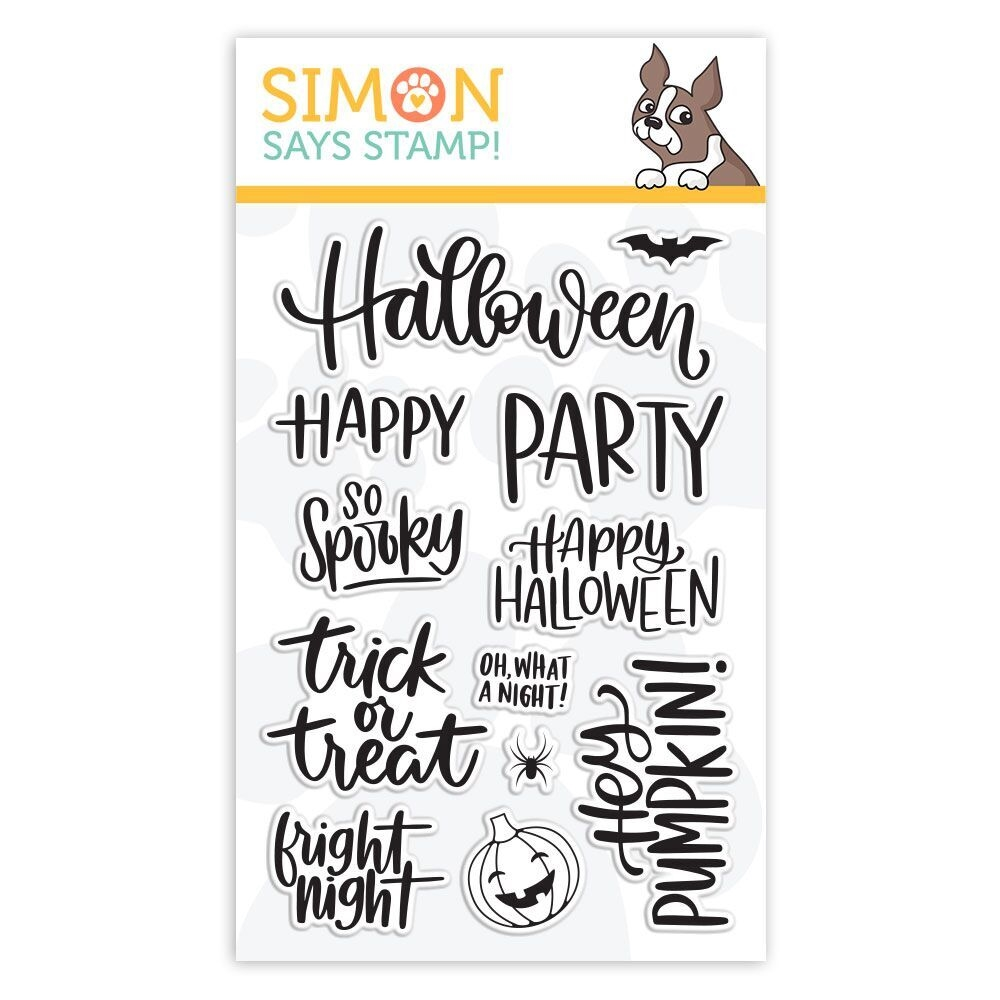 Simon Says Clear Stamps HANDLETTERED HALLOWEEN sss101873 Stamptember zoom image