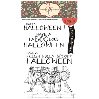 Colorado Craft Company Lovely Legs HAPPY HALLOWEEN Clear Stamps LL214
