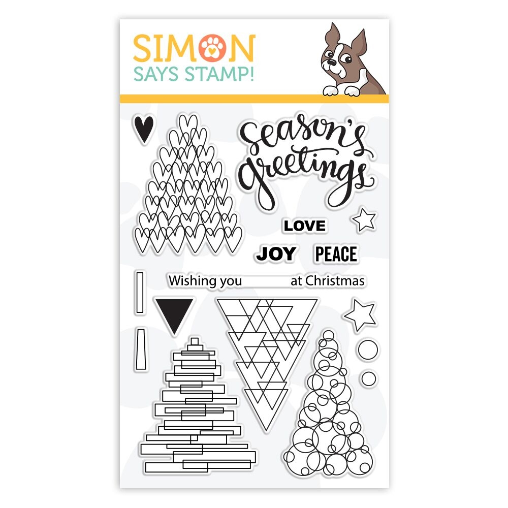 Simon Says Clear Stamps FESTIVE TREES sss101880 Stamptember zoom image