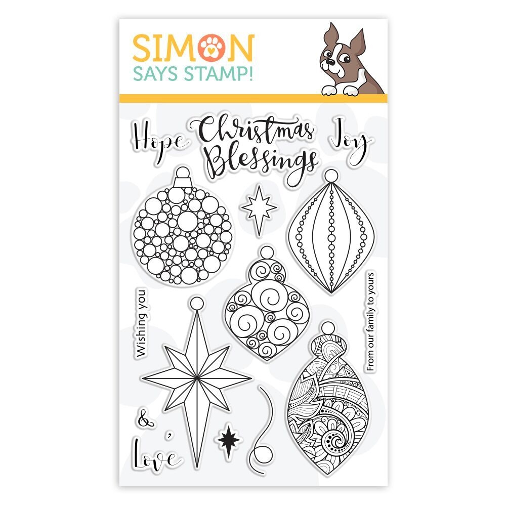 Simon Says Clear Stamps ORNATE ORNAMENTS sss101878 Stamptember zoom image
