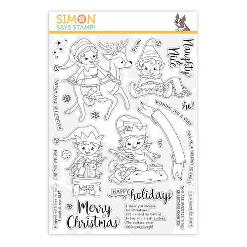 Simon Says Clear Stamps NAUGHTY AND NICE ELVES sss101914 Stamptember Preview Image