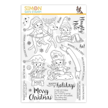 Simon Says Clear Stamps NAUGHTY AND NICE ELVES sss101914 Stamptember