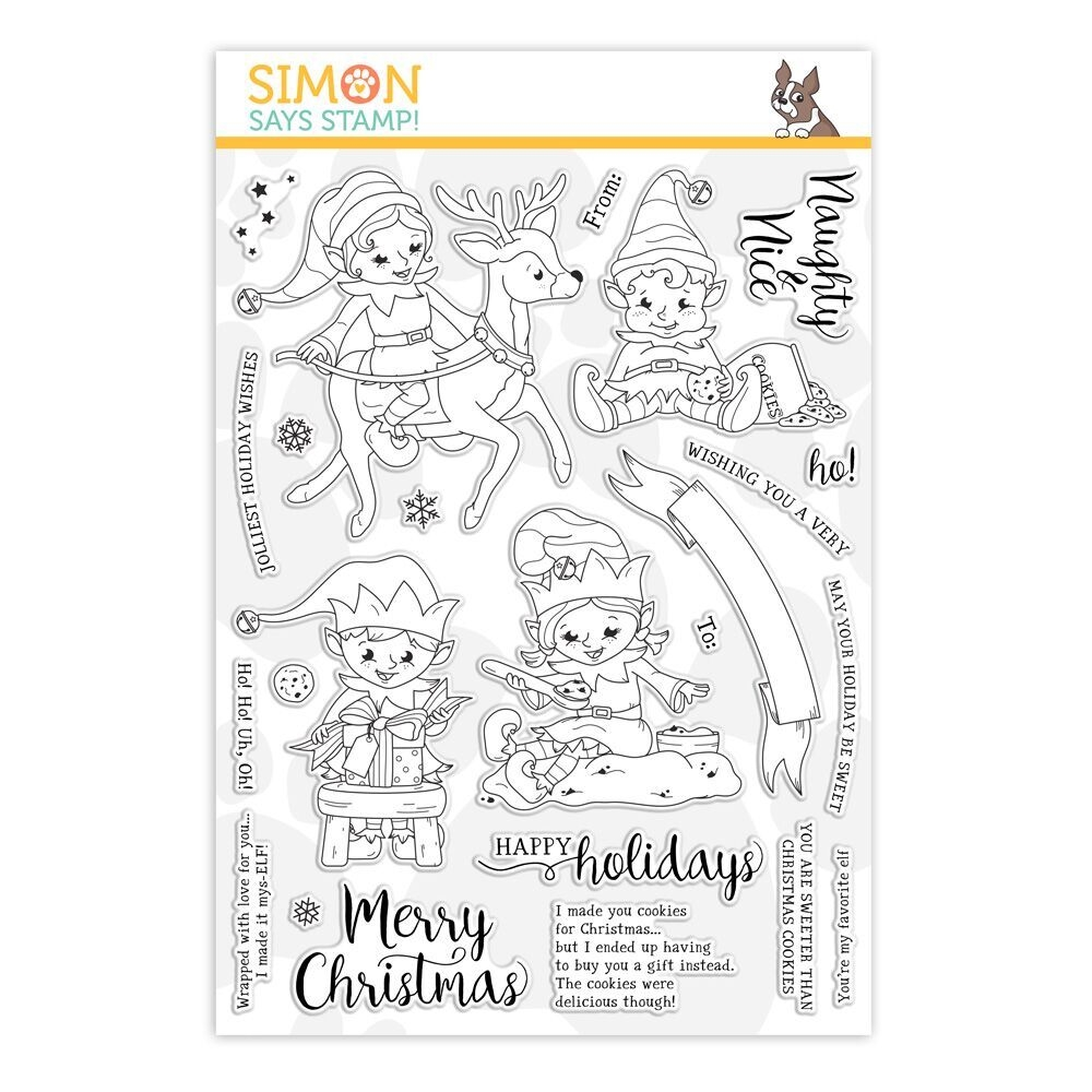 Simon Says Clear Stamps NAUGHTY AND NICE ELVES sss101914 Stamptember zoom image