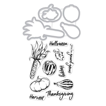 Hero Arts Stamp and Cuts AUTUMN BOUNTY DC244