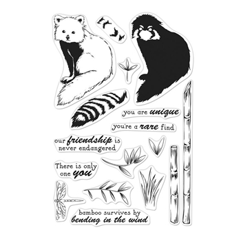 Hero Arts Clear Stamps Color Layering RED PANDA CM303