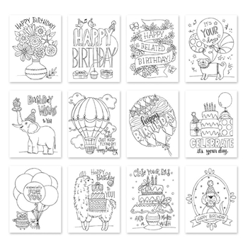 Simon Says Stamp Suzy's IT'S YOUR BIRTHDAY Watercolor Prints szwcyb18