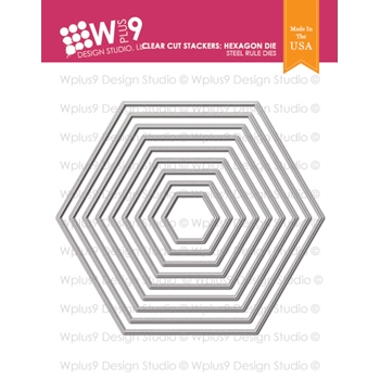 Wplus9 CLEAR CUT STACKERS HEXAGON Designer Dies wp9d-218
