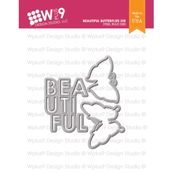 Wplus9 BEAUTIFUL BUTTERFLIES Designer Dies wpln-0214