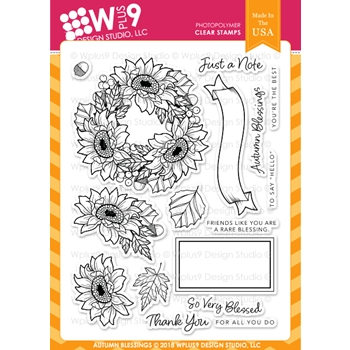 Wplus9 AUTUMN BLESSINGS Clear Stamps cl-wp9ab