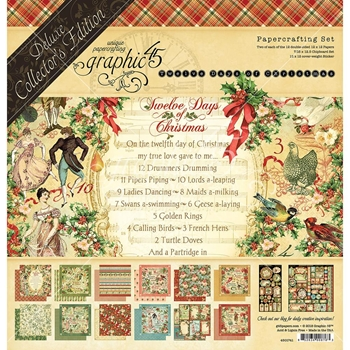 Graphic 45 TWELVE DAYS OF CHRISTMAS 12 x 12 Deluxe Collector's Edition 4501741