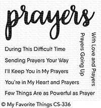 My Favorite Things SENDING PRAYERS Clear Stamps CS336