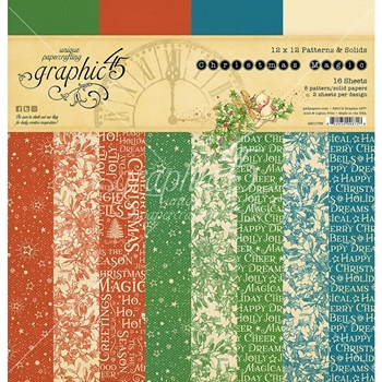 Graphic 45 CHRISTMAS MAGIC 12 x 12 Patterns & Solids Paper Pad 4501736