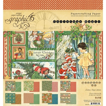 Graphic 45 CHRISTMAS MAGIC 8 x 8 Paper Pad 4501734
