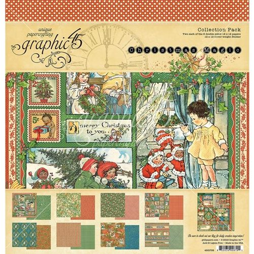 Graphic 45 CHRISTMAS MAGIC 12 x 12 Collection Pack 4501735 Preview Image