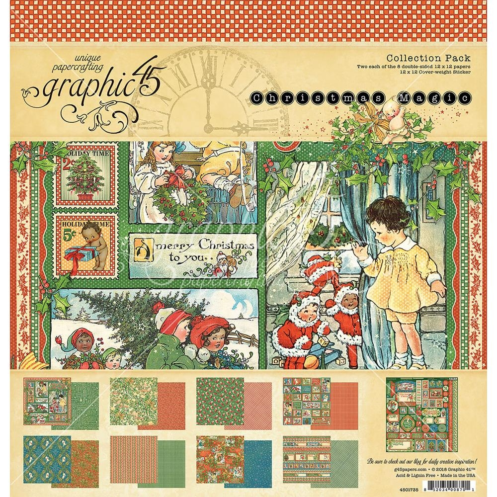 Graphic 45 CHRISTMAS MAGIC 12 x 12 Collection Pack 4501735 zoom image