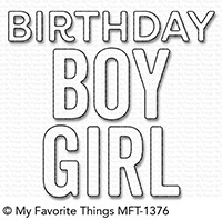 My Favorite Things BIRTHDAY BOY AND GIRL Die-Namics MFT1376