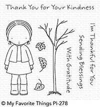 Pure Innocence SENDING BLESSINGS Clear Stamps PI278 MFT